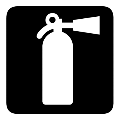 How To Use A Fire Extinguisher Pedestrian Sign Fire Extinguisher Symbol Design