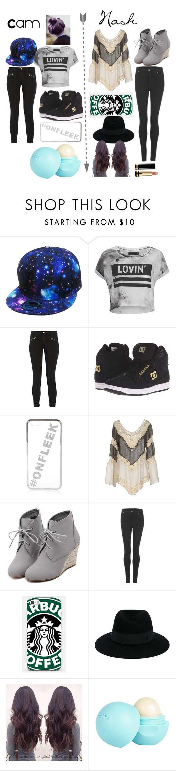"""Cam vs. Nash"" by s8812435 ❤ liked on Polyvore featuring Religion Clothing, J Brand, DC Shoes, River Island, Care Of You, WithChic, Cheap Monday, Samsung, Maison Michel and Gucci"