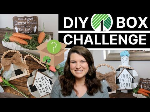 Photo of Dollar Tree DIY Box Challenge Collab | Farmhouse, Buffalo Check & Spring DIYs | Whiskey & Whit