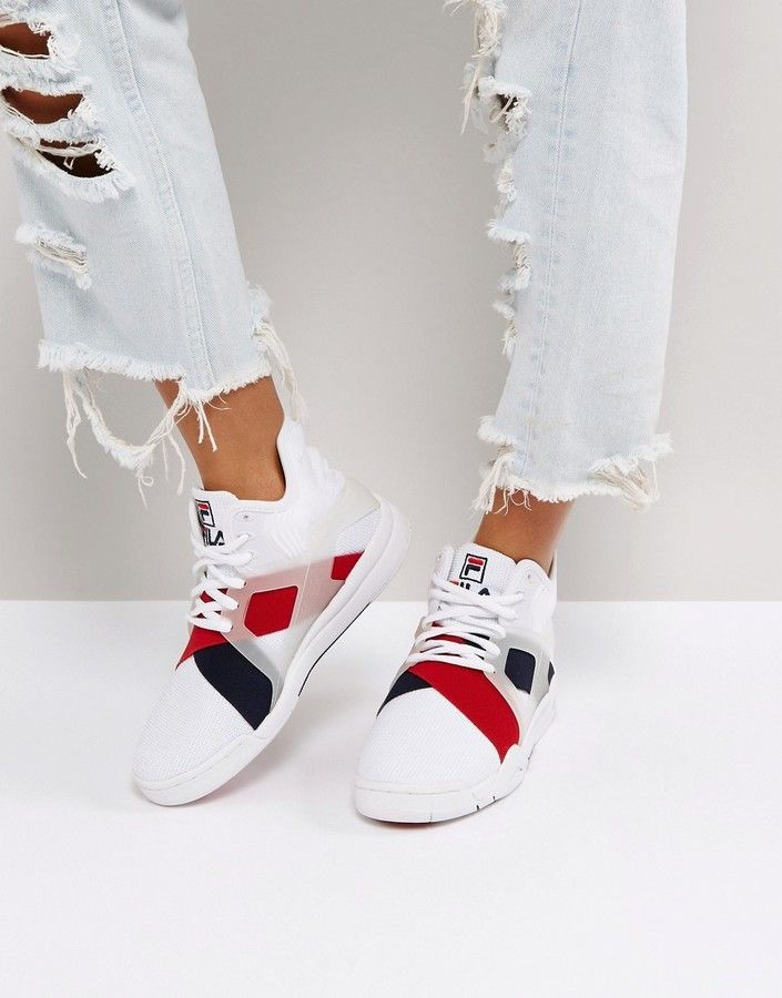 Fila Cage 17 Sneakers In White  645565dff33