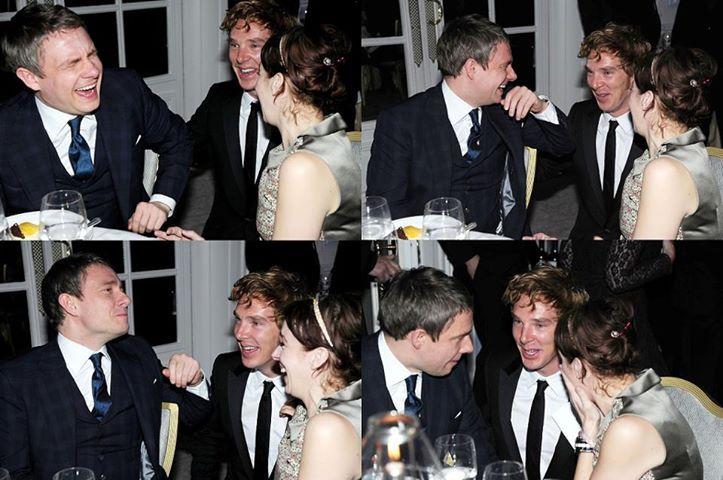 Martin Freeman, Amanda Abbington, and Benedict Cumberbatch ...