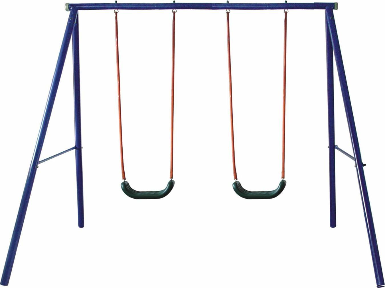 Movement God Metal A-Frame Two Seat Swing Set. Safe and Strong Steel ...