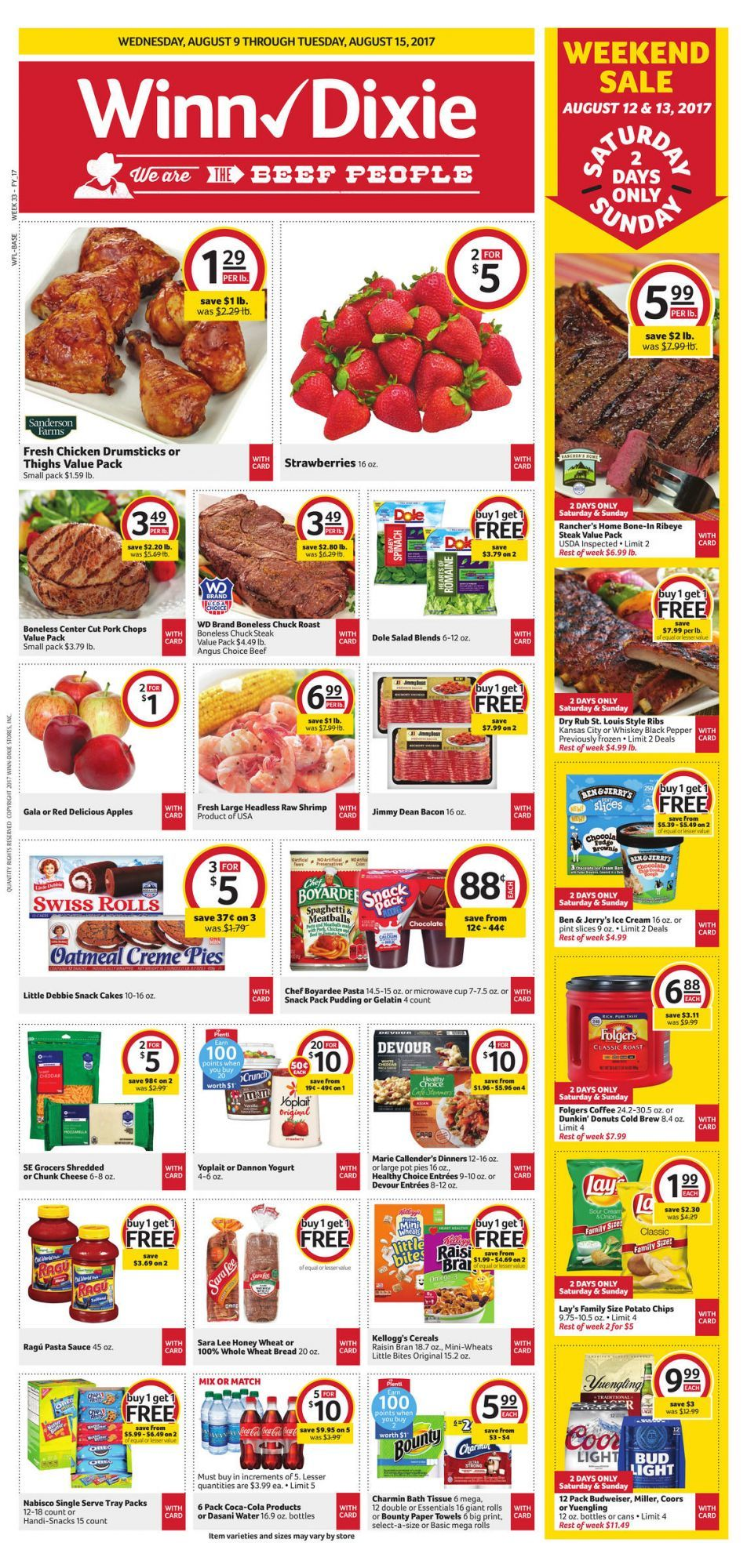 WinnDixie Weekly Ad August 9 15 us grocery and food savings