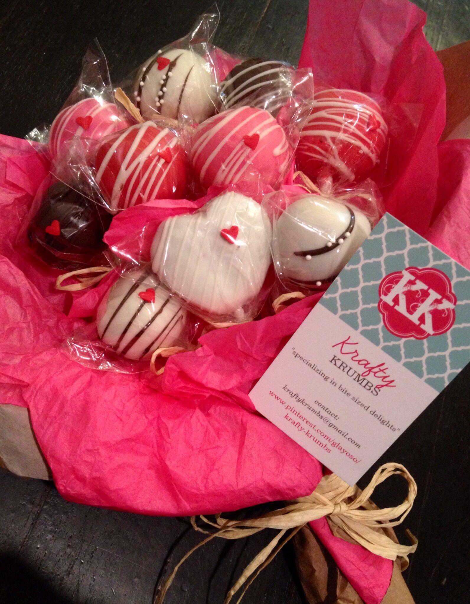 Valentines Day Cake Pop Bouquet