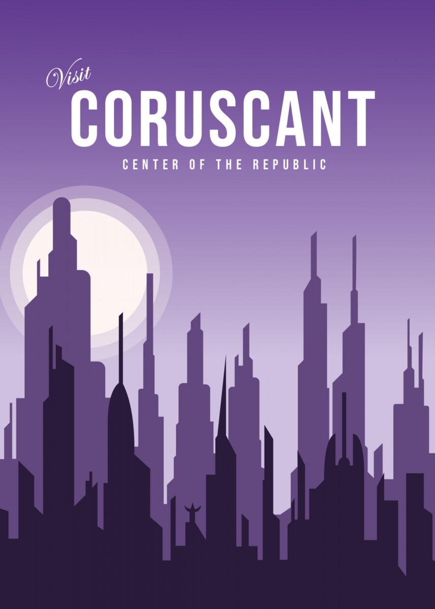 Visit coruscant Minimalistic Poster Print | metal posters - Displate Minimalist poster coruscant center… | Displate thumbnail