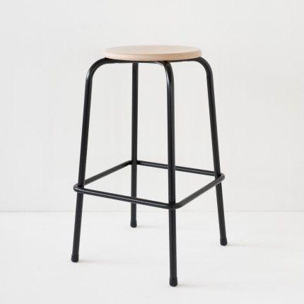 revendeur a647d d7fc5 Tabouret de bar noir | • Le Mondrian • en 2019 | Tabouret ...