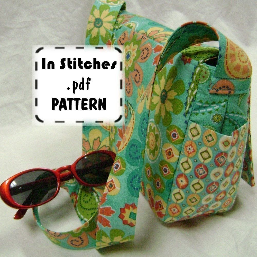 Cross Body Purse PDF Sewing Pattern - Small Joey Shoulder Bag EASY ...