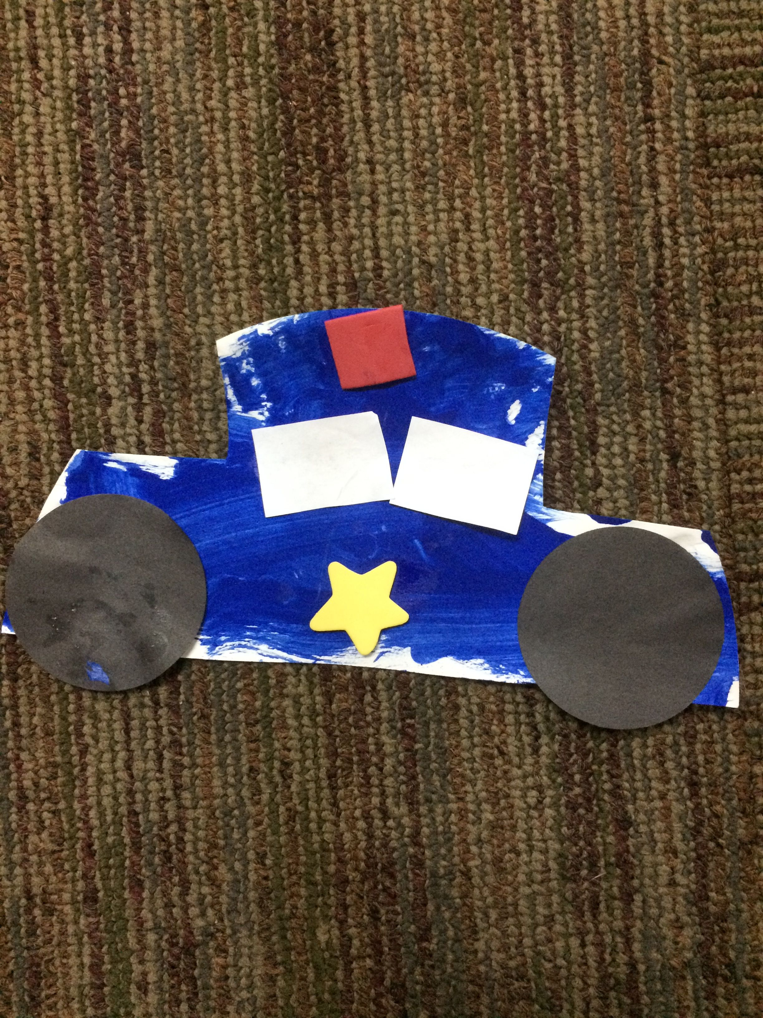 Paper Plate Police Car Community Helpers Preschool Toddler