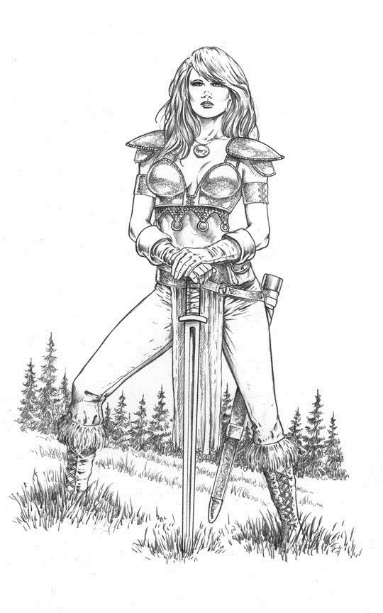 30 Female Knight Colorful Pictures Coloring Pages Pencil Deviantart Sketches