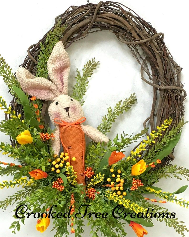 Photo of Spring Wreath, Easter Wreath, Bunny Wreath, Spring Wreaths, Spring Floral, Spring Décor, Easter Décor, Bunny, Woodland Wreath, Garden Wreath
