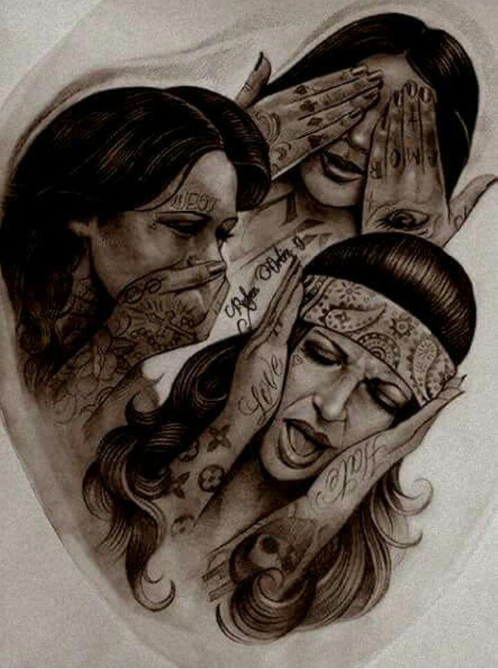 See No Evil Hear No Evil Speak No Evil See No Evil Speak No Evil Hear No Evil Damskie Tatuaze Tatuaze Rekawy Pomysly Na Tatuaz