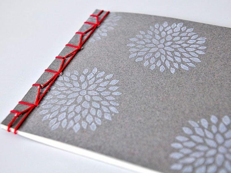 diy anleitung notizbuch mit japanischer bindung selber. Black Bedroom Furniture Sets. Home Design Ideas