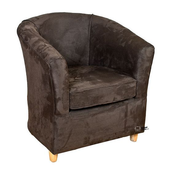 Leather Bucket Tub Chair Suede Brown  sc 1 st  Pinterest & Leather Bucket Tub Chair Suede Brown | Tub Chairs | Pinterest | Tub ...