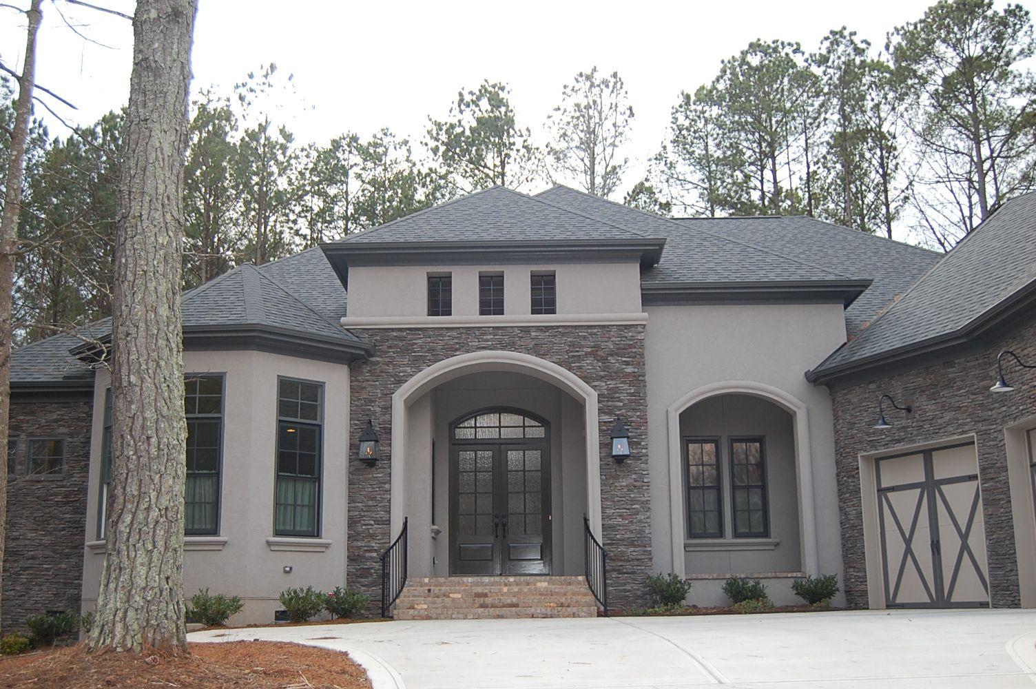 Arh plan the bermeda 1129f exterior 16 stone coronado - Exterior paint coverage on stucco ...