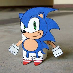 outline sonic the hedgehog cake template