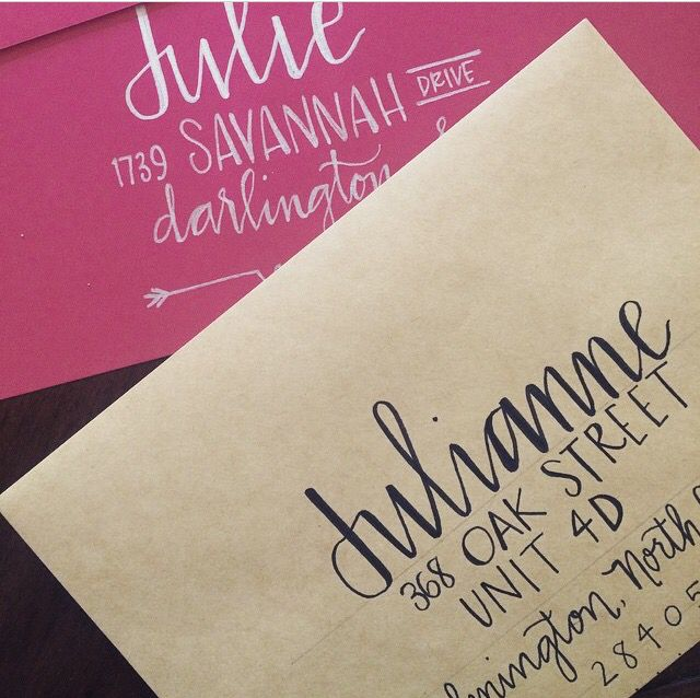 Calligraphy decor for your snail mail