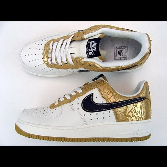 9314a8e57ceca Nike Air Force 1 s - white gold black