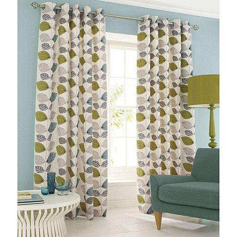 Ashley Wilde Aqua 'Emerson' Lined Curtains With Eyelet Heading- at Debenhams.com