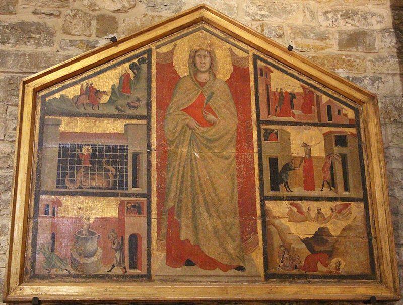 Maestro della Santa Cecilia - Santa Margherita e storie della sua vita - XIV sec.  - Santa Margherita a Montici, Firenze