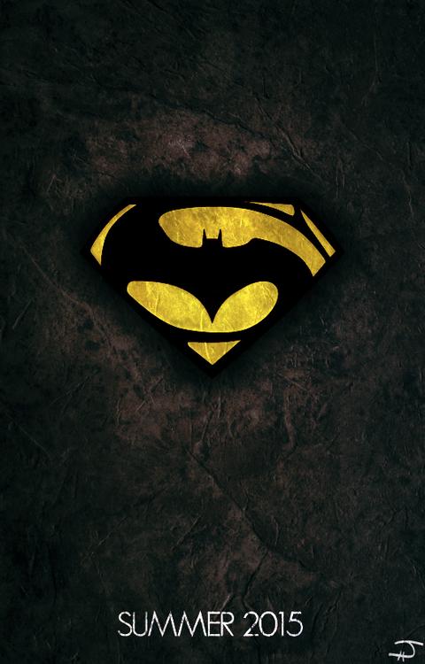 Batman Vs Superman Love The Combination Of The Logos The Geek