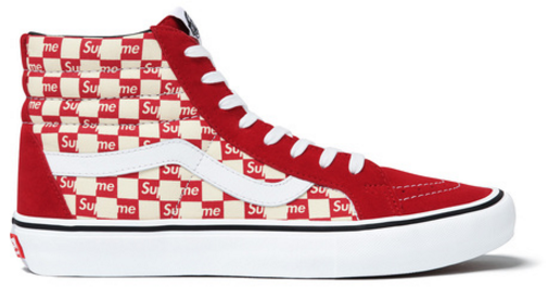 029f1cdc I just placed a Bid on the Vans Sk8-Hi Supreme Red Checker Logo on StockX