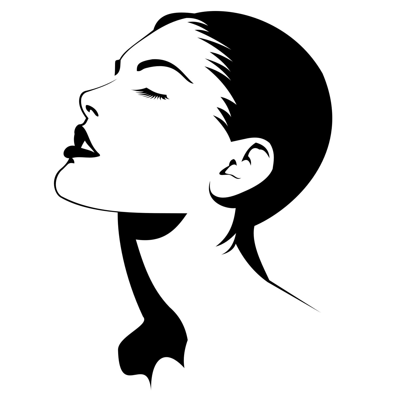 Черно-белые картинки профиль