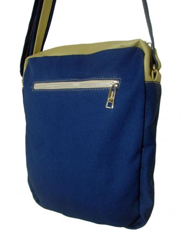 3a695fec6 Bolsa carteiro de lona e couro legítimo. Bolsa prática, cheia de estilo e  unissex.Entre em nossa loja para conferir outros modelos de bolsas  masculinas.