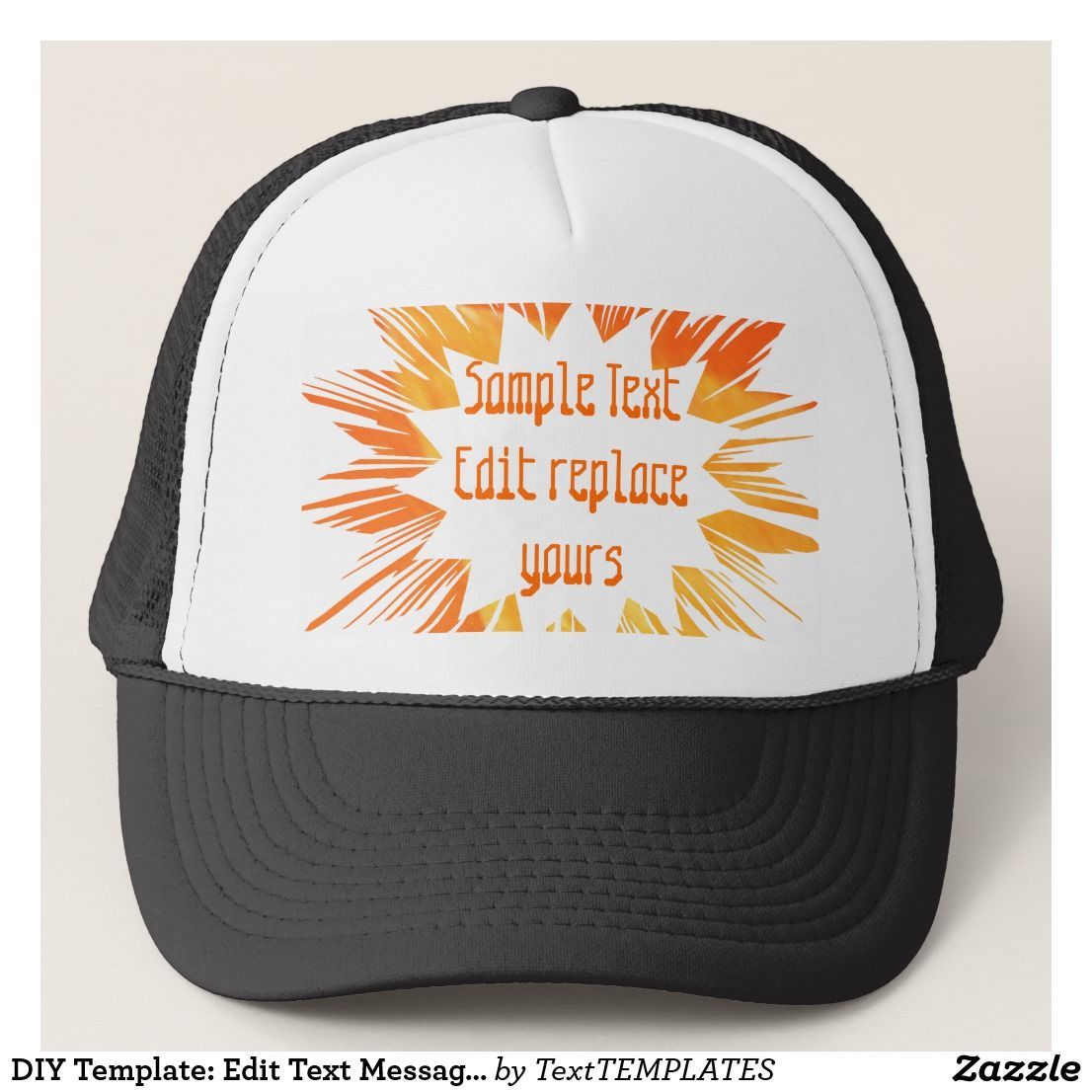 Diy Template Edit Text Message Greeting Blessing Trucker Hat 101