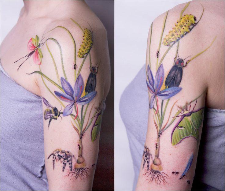 Wildflower Tattoo Design Google Search Nature Tattoos Feminine Tattoos Tattoos