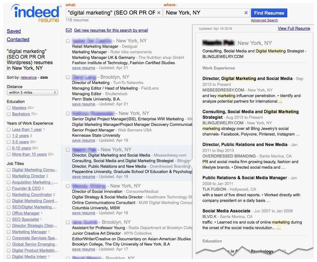 Apply with Your Indeed Resume New Indeed Resume Search by