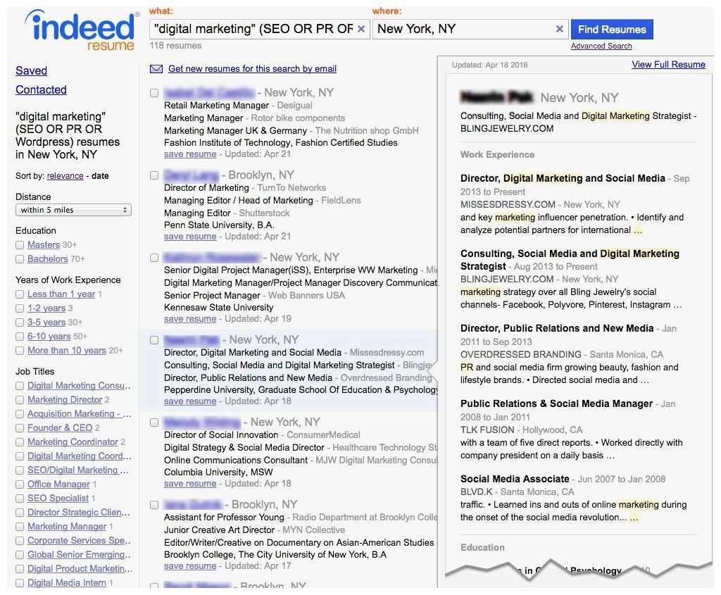 Indeed Job Resume Search Indeed Job Examples in 2020 Job