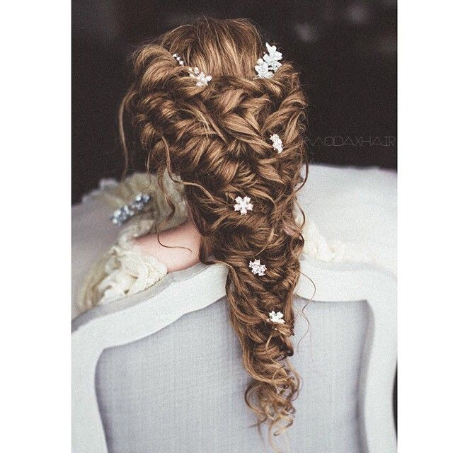 Straight Wedding Hairstyles: Long Bridal Hair, Prom