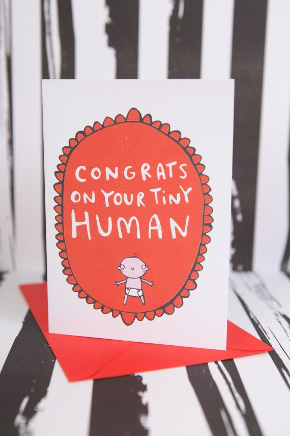 Congrats on your tiny human new baby greeting card congrats on your tiny human new baby greeting card congratulations m4hsunfo