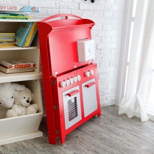 Hideaway Folding Retro Kitchen Red Play Kitchens and