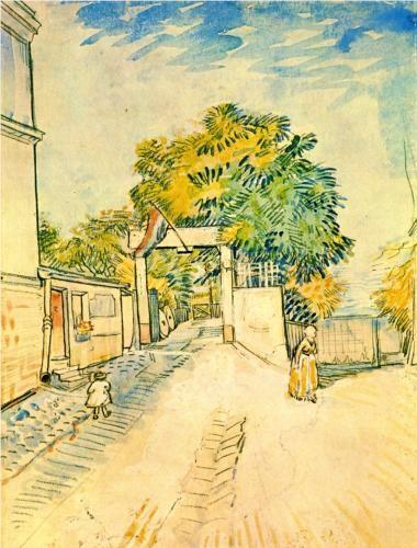 Entrance to the Moulin de la Galette - Vincent van Gogh