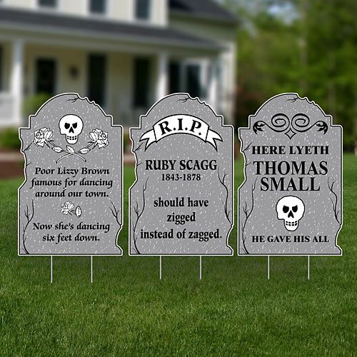Image result for Funny Halloween Tombstone Sayings