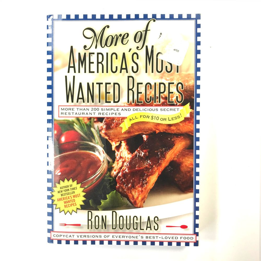 Details about More Of America's Most Wanted Recipes By Ron