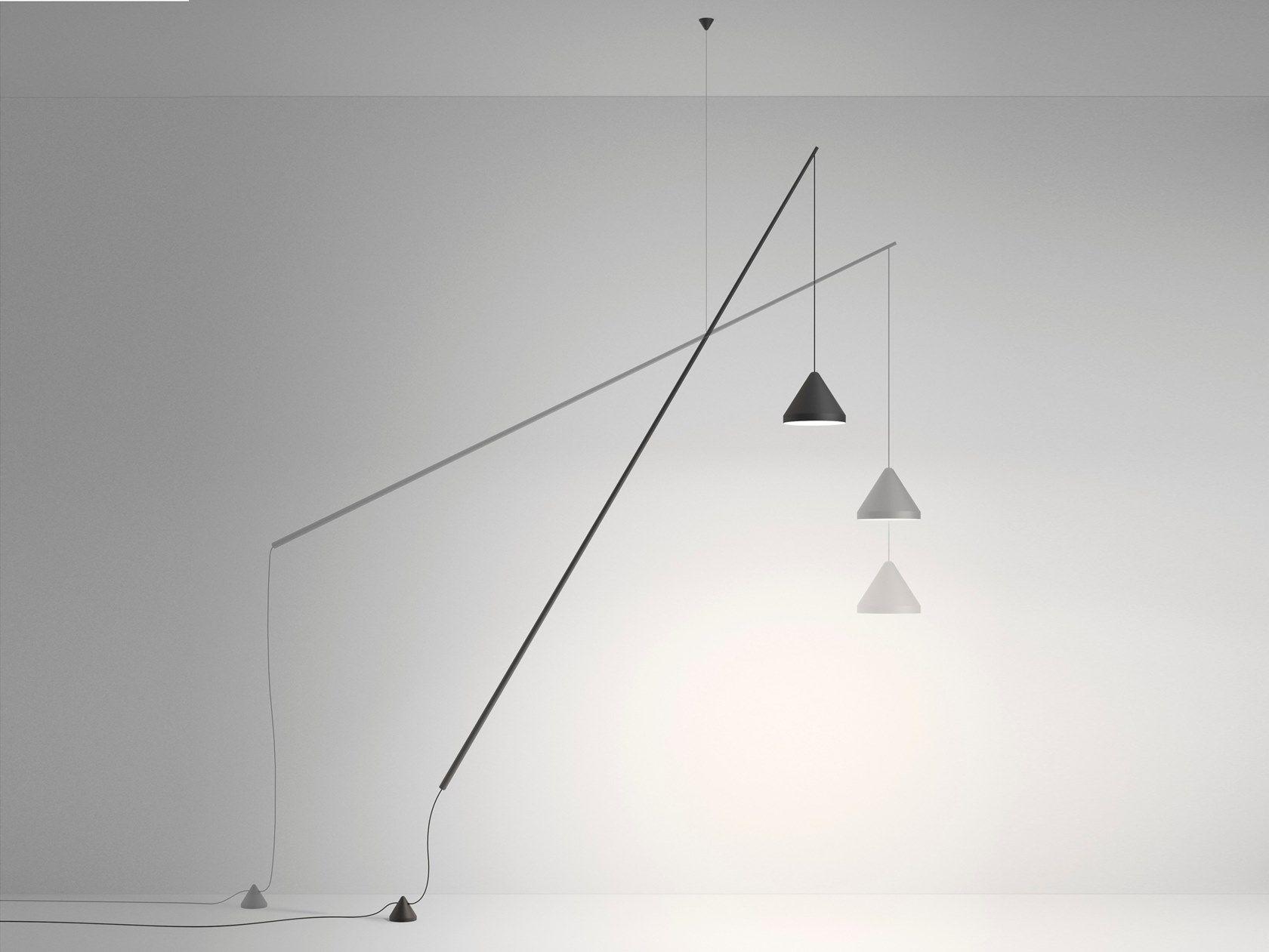 carbon fibre pendant lamp floor lamp north swivel pendant lamp by vibia - Floor Hanging Lamp