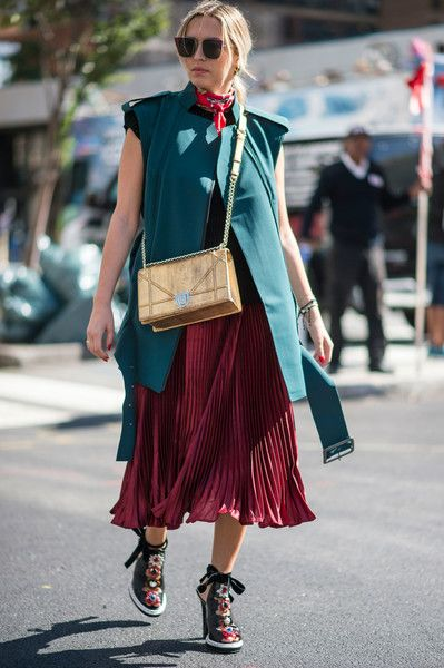 Emerald and Ruby - The Most Inspiring Street Style at NYFW Spring 2017 - Photos