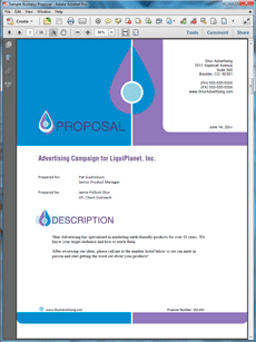advertising proposal templates