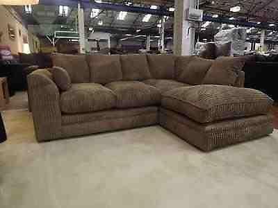 Dylan Mocha Jumbo Cord Corner Sofa