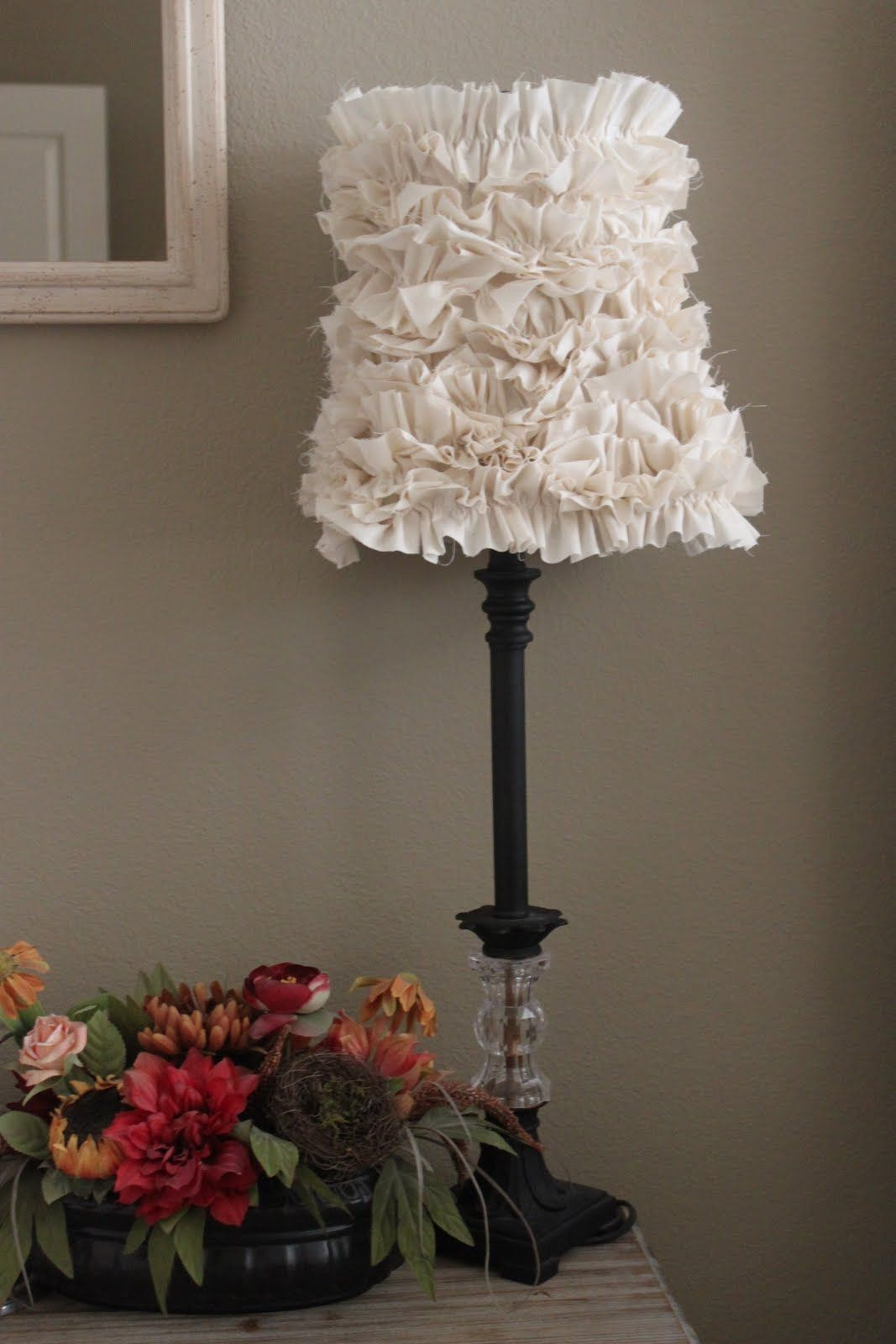 Crafty texas girls crafty how to ruffled lamp shade decor crafty texas girls crafty how to ruffled lamp shade aloadofball Image collections