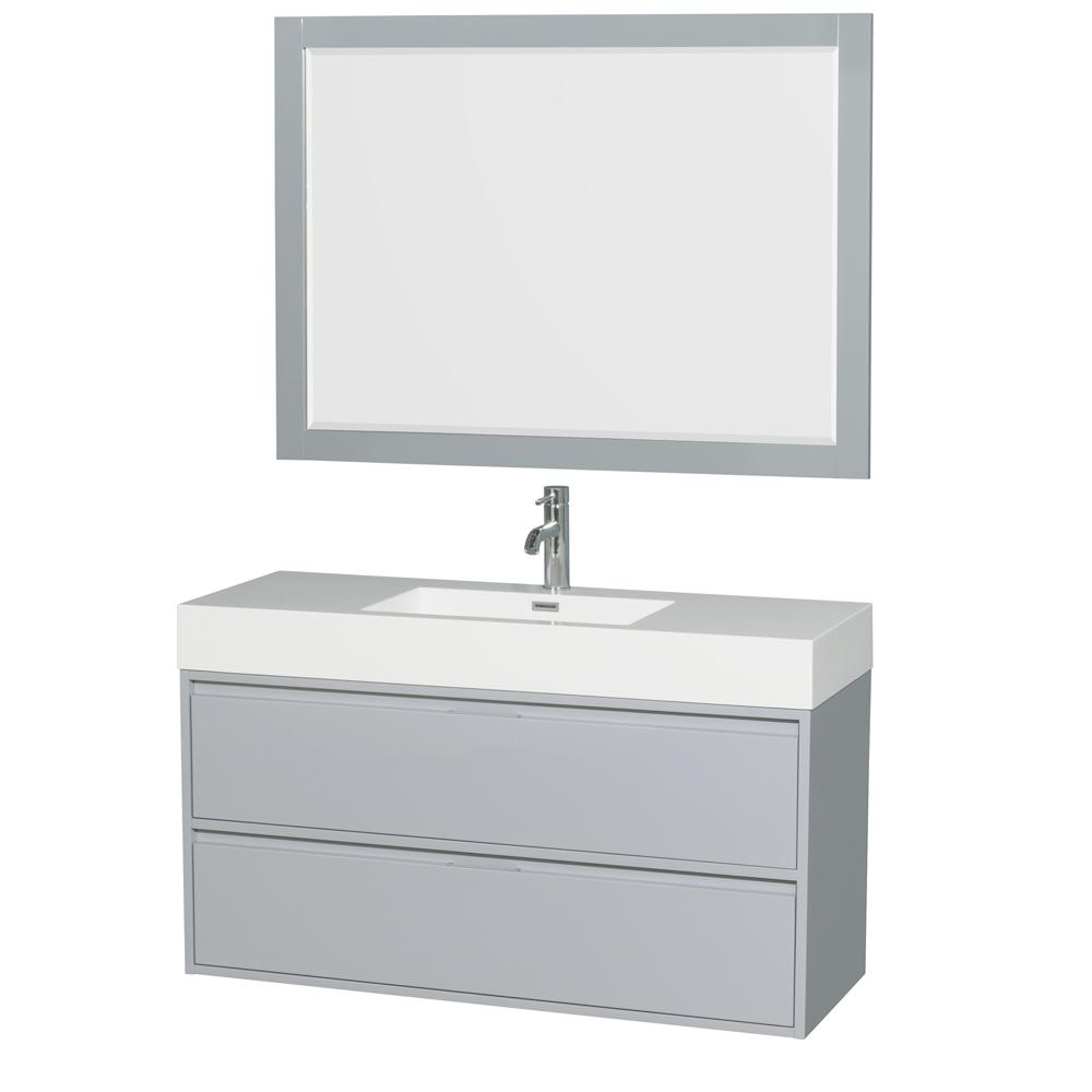 Wyndham Collection Daniella 47.3 in. W x 18 in. D Vanity in Dove ...