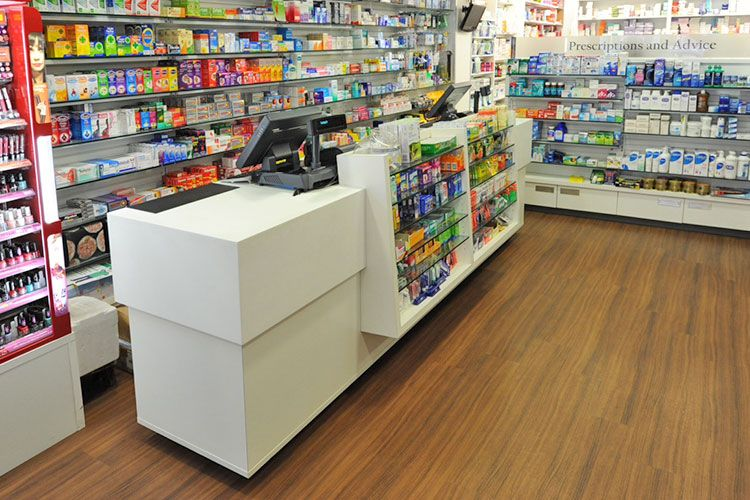Pharmacy Counter Design Bespoke solutions Rapeed