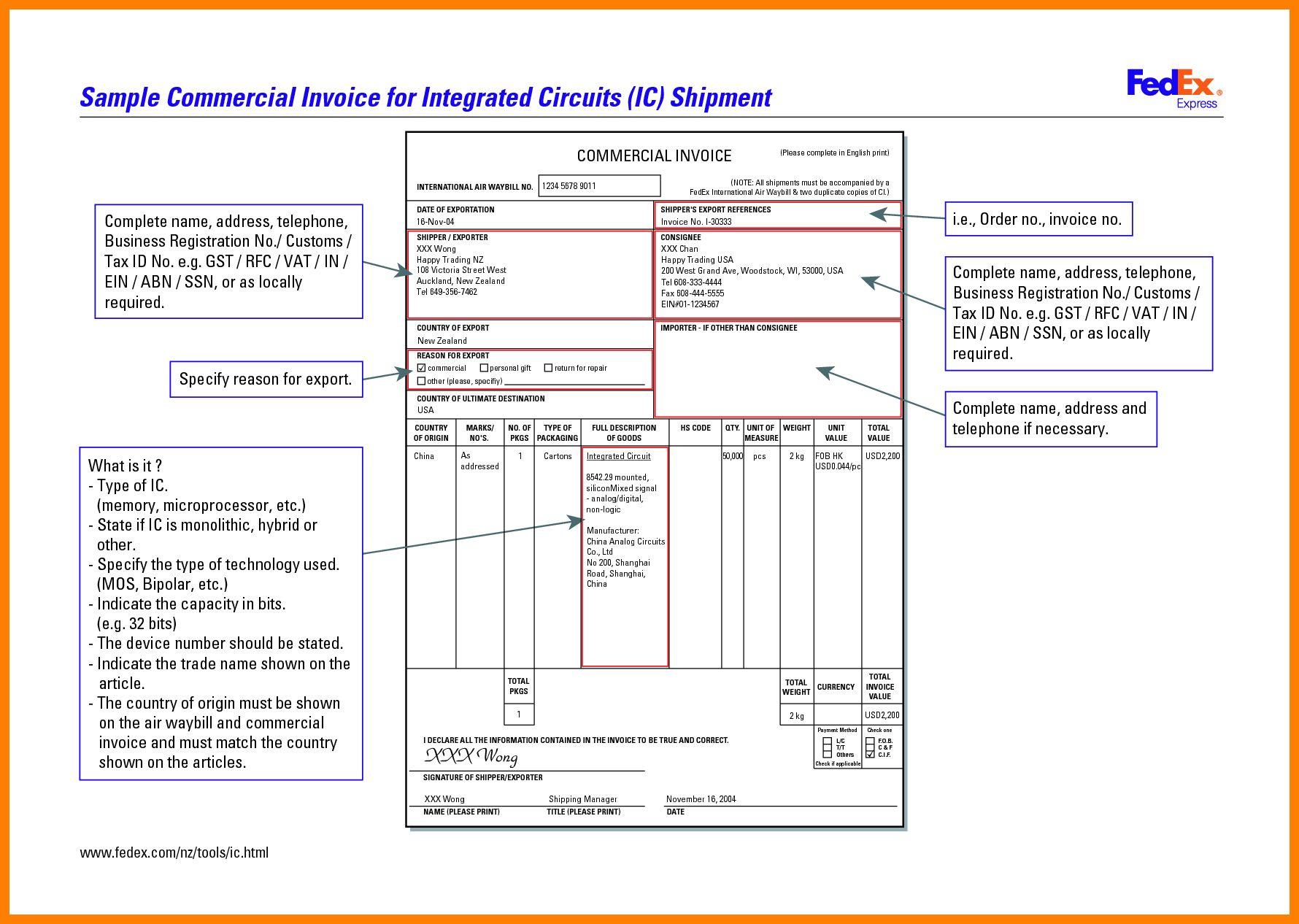 Fedex Commercial Invoice Sample Apcc2017 With Regard To Fedex Proforma Invoice Template Best Professi Invoice Sample Invoice Template Invoice Template Word Fedex proforma invoice template pdf
