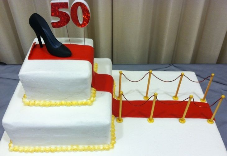 ELEGANT RED AND GOLD 50TH BIRTHDAY CAKES Elegant Events 50th