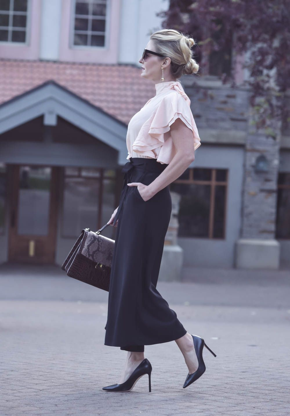 0df8a3675912 Three stylish and sophisticated business casual outfit ideas including  culottes