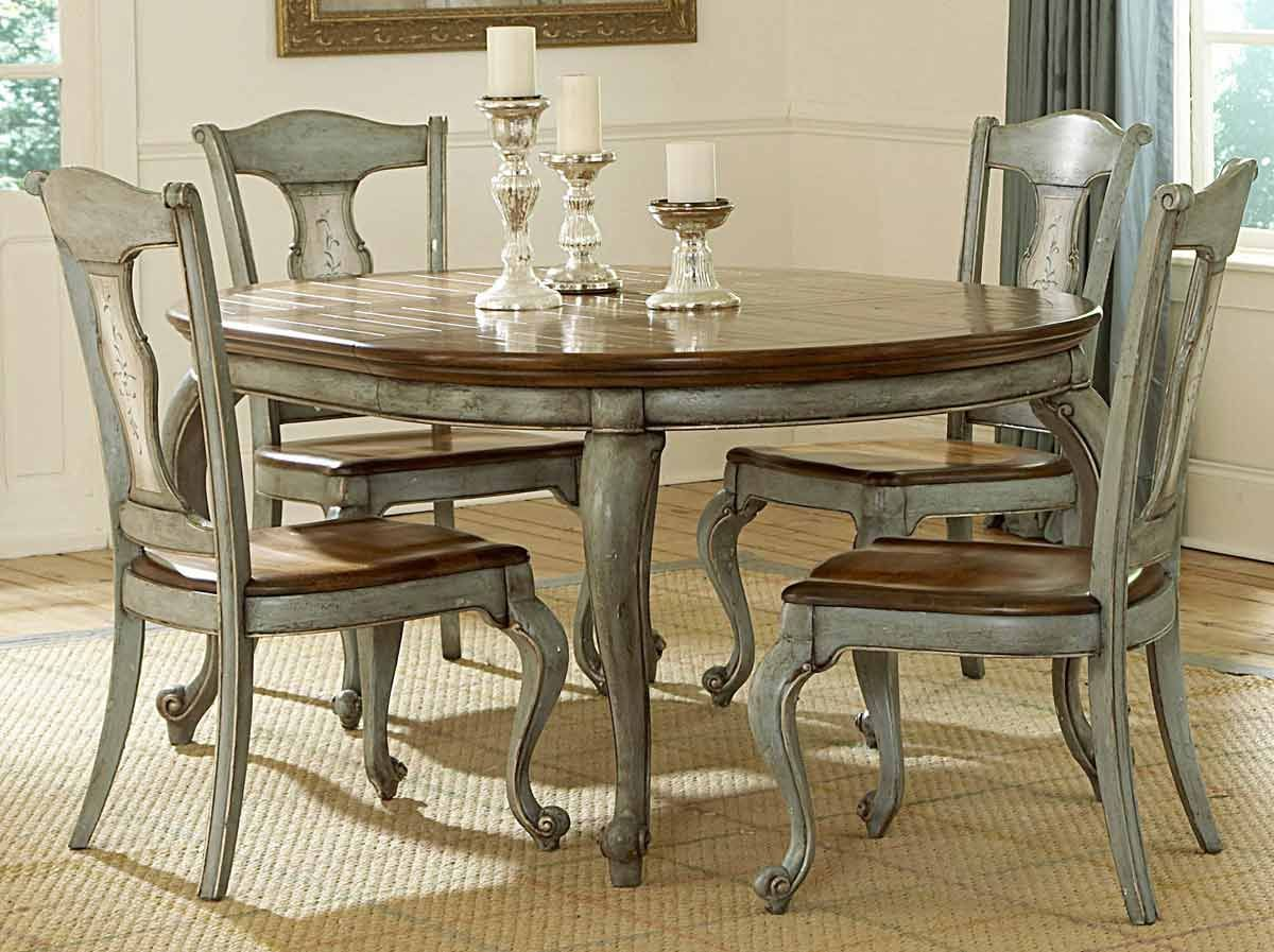 Paint a formal dining room table and chairs - love the color ...