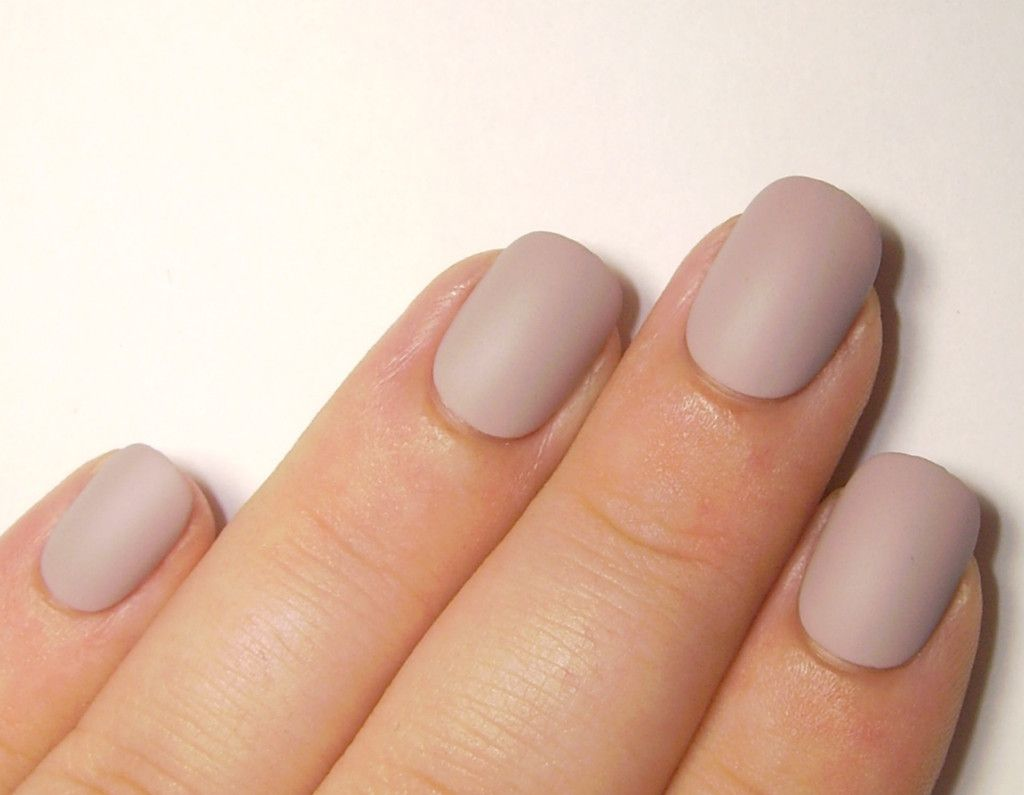 Matte Nude Nail Set - 24 Extra Small Fake Nails - Oval Shape Press ...