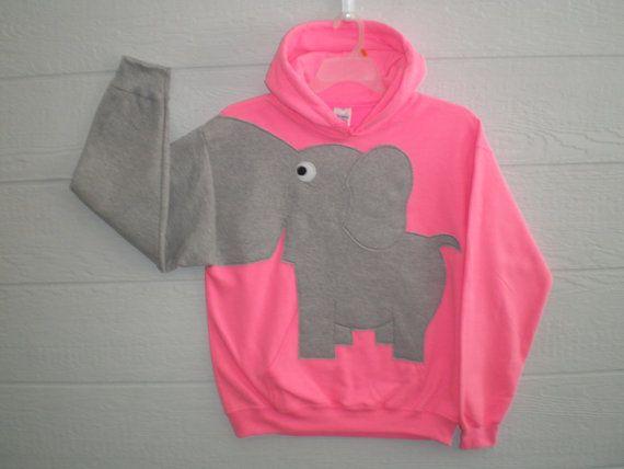 641f2992a6fab Sweatshirt · Hooded Elephant sweatshirt bright by CreativeCallipipper on  Etsy